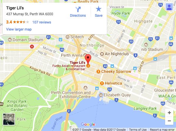 3. Tiger Lil's 437 Murray St, Perth