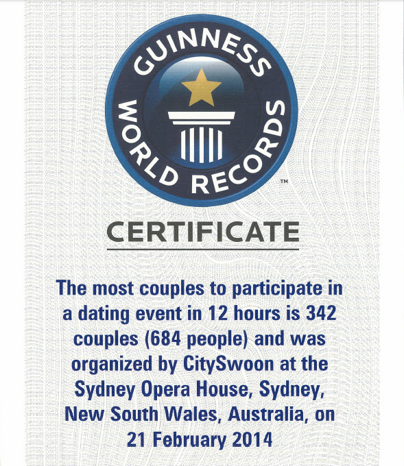 World's Biggest Blind Date Certificate
